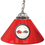 "Trademark Global® 14"" Single Shade Bar Lamp, Red, Corvette C1"