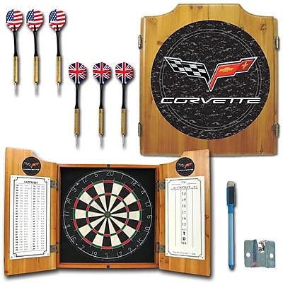 Trademark Global® Solid Pine Dart Cabinet Set, Corvette Model C6