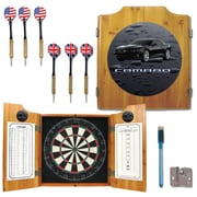 Trademark Global® Solid Pine Dart Cabinet Set, Chevrolet Black Camaro