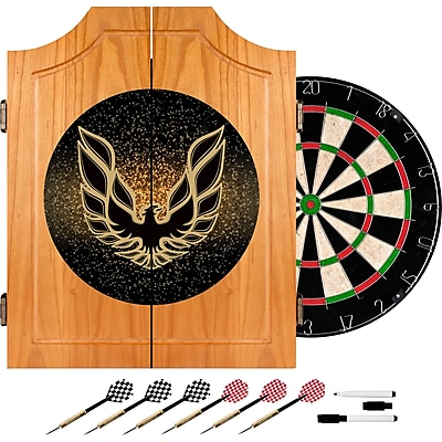 Trademark Global® Solid Pine Dart Cabinet Set, Pontiac Firebird Black