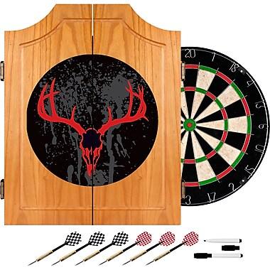 Trademark Global® Solid Pine Dart Cabinet Set, Hunt Skull