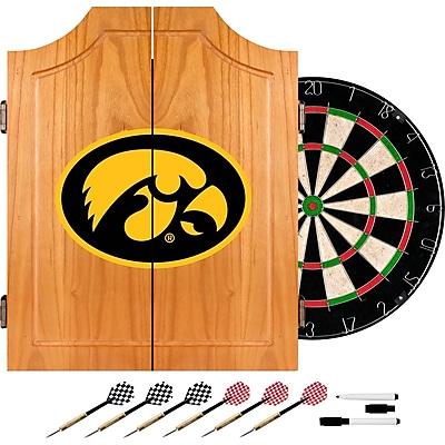 Trademark Global® Solid Pine Dart Cabinet Set, NCAA University of Lowa