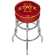 Trademark Global® NCAA® Vinyl Padded Swivel Bar Stool, Red, Lowa State University
