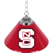 "Trademark Global® 14"" Single Shade Bar Lamp, Red, North Carolina State™ NCAA"