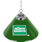 "Trademark Global® 14"" Single Shade Bar Lamp, Green, University of North Dakota™ NCAA"