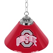 "Trademark Global® 14"" Single Shade Bar Lamp, Red, The Ohio State University NCAA"