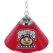 "Trademark Global® 14"" Single Shade Brutus Bar Lamp, Red, The Ohio State University NCAA"