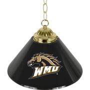 "Trademark Global® 14"" Single Shade Bar Lamp, Black, Western Michigan University™ NCAA"