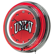 Trademark Global® Chrome Double Ring Analog Neon Wall Clock, NCAA UNLV™