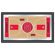 "Trademark Global® 15"" x 26"" Black Wood Framed Mirror, North Carolina State Basketball"