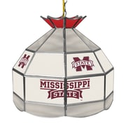 """Trademark Global® 16"""" Stained Glass Tiffany Lamp, Mississippi State U NCAA"""