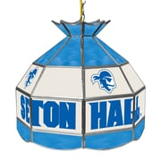 "Trademark Global® 16"" Stained Glass Tiffany Lamp, Seton Hall University NCAA"