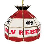 """Trademark Global® 16"""" Stained Glass Tiffany Lamp, UNLV™ NCAA"""