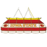 "Trademark Global® 40"" Stained Glass Tiffany Lamp, Iowa State™ University NCAA"