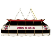 "Trademark Global® 40"" Stained Glass Tiffany Lamp, The Ohio State NCAA, Black"