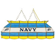 "Trademark Global® 40"" Stained Glass Tiffany Lamp, United States Naval Academy NCAA"