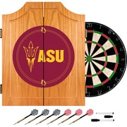 Trademark Global® Solid Pine Dart Cabinet Set, NCAA Arizona State® University