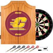 Trademark Global® Solid Pine Dart Cabinet Set, NCAA Central Michigan University