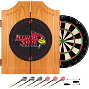 Trademark Global® Solid Pine Dart Cabinet Set, NCAA Illinois State University