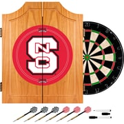 Trademark Global® Solid Pine Dart Cabinet Set, NCAA North Carolina State