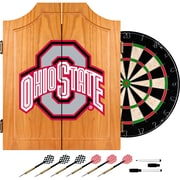 Trademark Global® Solid Pine Dart Cabinet Set, NCAA Ohio State University Black