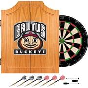 Trademark Global® Solid Pine Dart Cabinet Set, NCAA Ohio State University Brutus Buckeye