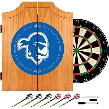 Trademark Global® Solid Pine Dart Cabinet Set, NCAA Seton Hall University