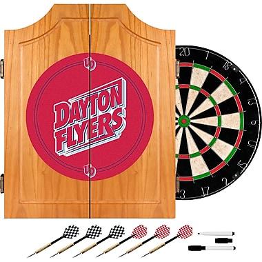 Trademark Global® Solid Pine Dart Cabinet Set, NCAA University of Dayton