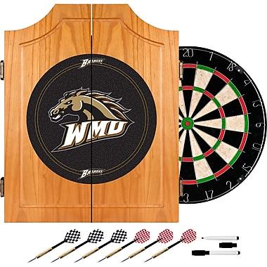 Trademark Global® Solid Pine Dart Cabinet Set, NCAA Western Michigan University