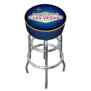 Trademark Global® Vinyl Padded Bar Stool, Blue, Las Vegas