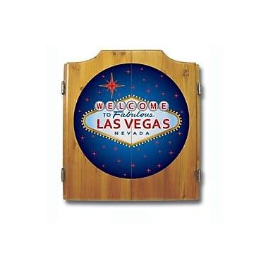 Trademark Global® Solid Pine Dart Cabinet Set, Las Vegas