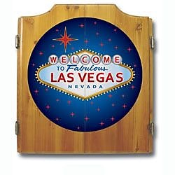 Trademark Global® Solid Pine Dart Cabinet Set, Las Vegas
