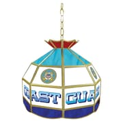 """Trademark Global® 16"""" Stained Glass Tiffany Lamp, United States Coast Guard"""