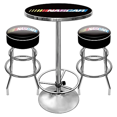 Trademark Global® 2 Bar Stools and Table Gameroom Combo, Nascar