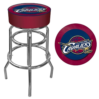 Trademark Global® Vinyl Padded Swivel Bar Stool, Red, Cleveland Cavaliers NBA