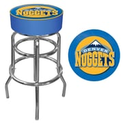 Trademark Global® Vinyl Padded Swivel Bar Stool, Blue, Denver Nuggets NBA