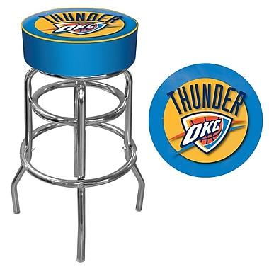 Trademark Global® Vinyl Padded Swivel Bar Stool, Blue, Oklahoma City Thunder NBA