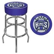 Trademark Global® Vinyl Padded Swivel Bar Stool, Blue, Sacramento Kings NBA
