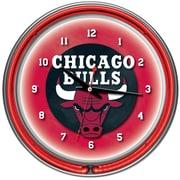Trademark Global NBA1400-CB Analog Chicago Bulls Wall Clock, Gray
