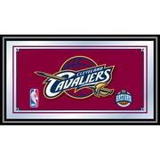 "Trademark Global® 15"" x 27"" Black Wood Framed Mirror, Cleveland Cavaliers NBA"