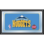 "Trademark Global® 15"" x 27"" Black Wood Framed Mirror, Denver Nuggets NBA"