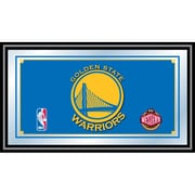 "Trademark Global® 15"" x 27"" Black Wood Framed Mirror, Golden State Warriors NBA"