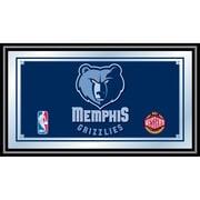 "Trademark Global® 15"" x 27"" Black Wood Framed Mirror, Memphis Grizzlies NBA"