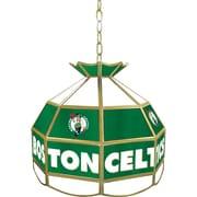 "Trademark Global® 16"" Tiffany Lamp, Boston Celtics NBA"