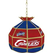 "Trademark Global® 16"" Tiffany Lamp, Cleveland Cavaliers NBA"