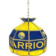 "Trademark Global® 16"" Tiffany Lamp, Golden State Warriors NBA"