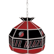 "Trademark Global® 16"" Tiffany Lamp, Portland Trail Blazers NBA"