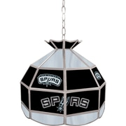 "Trademark Global® 16"" Tiffany Lamp, San Antonio Spurs NBA"