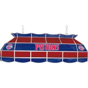 "Trademark Global® 40"" Tiffany Lamp, Detroit Pistons NBA, Red/Blue"