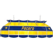 "Trademark Global® 40"" Tiffany Lamp, Indiana Pacers NBA, Blue/Yellow"